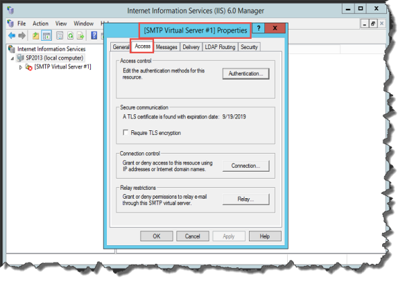How to setup Gmail as SMTP Relay Server in SharePoint
