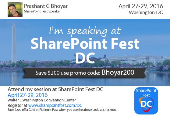 SharePoint Fest Washington DC 2016