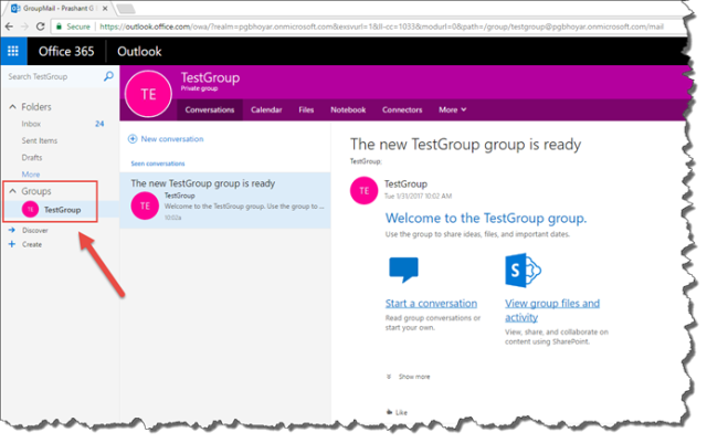 id of office 365 group